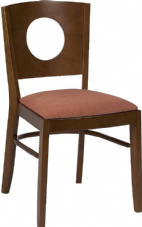 Jake Wooden Side Chair with Upholstered Seat